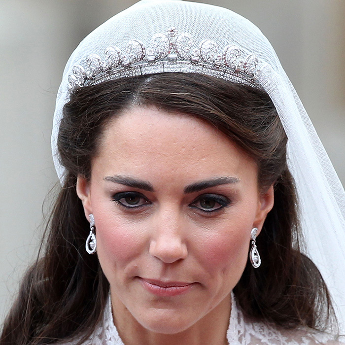 More than two-billion people watched Kate Middleton marry Prince William on April 29, 2011 in a custom Alexander McQueen gown and the Queen Mother's Cartier Halo tiara. It features 739 brilliant-cut diamonds and 149 baguette-cut diamonds. 