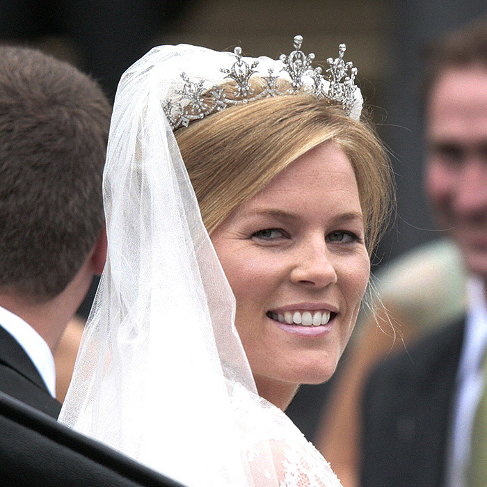 Canadian bride Autumn Phillips married the Queen's eldest grandson, Peter Phillips, on May 17, 2008. Princess Anne loaned her new daughter-in-law her Festoon tiara, which she had received as a gift in 1973 from the World-Wide Shipping firm in Hong Kong.