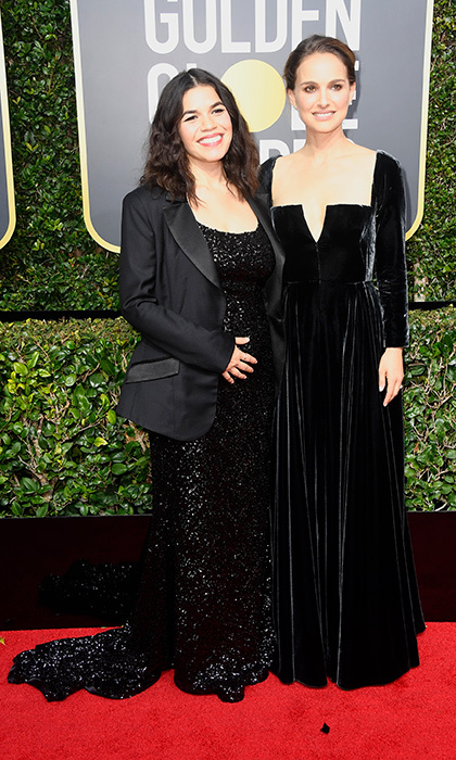 <h4>America Ferrera and Natalie Portman</h4>