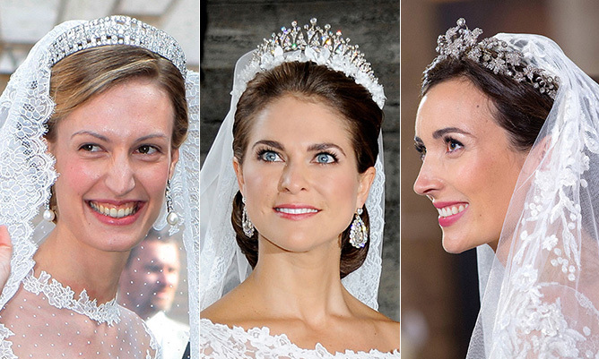 From fringe to pearls and a never-ending cascades of diamond, royal brides from around the world have glistened and gleamed in a host of tiaras rooted in history and tradition. Click through to see the most breathtaking toppers...
