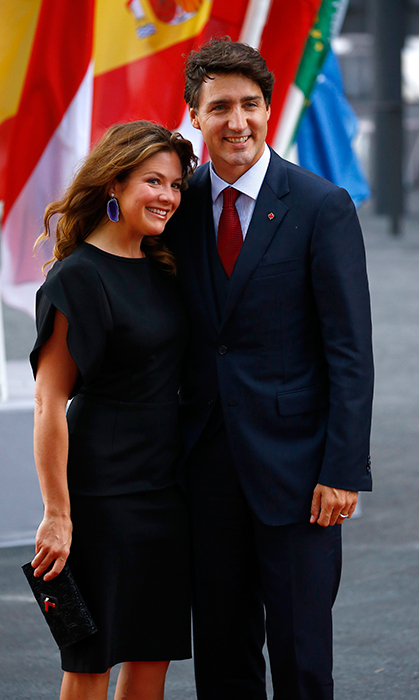 <h2>Justin Trudeau and Sophie Gregoire Trudeau</h2>