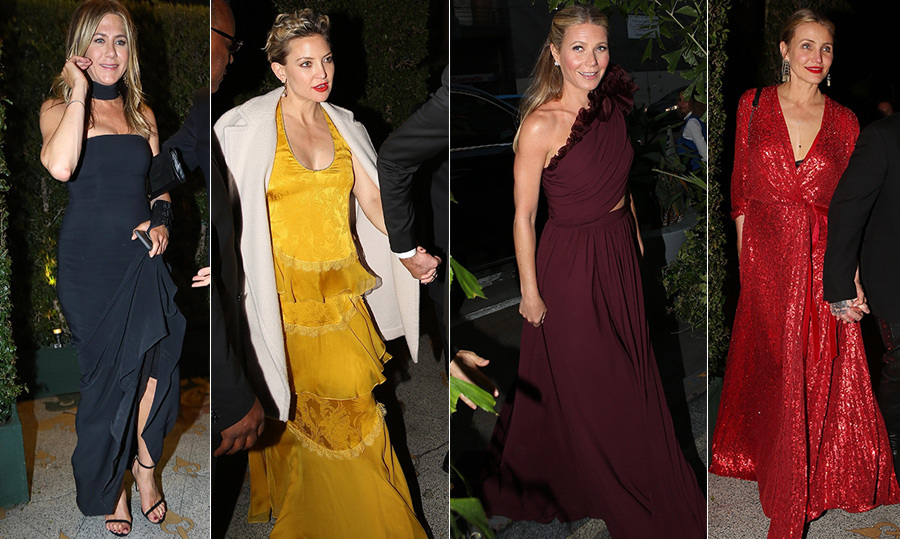 <p>Love was in the air on Saturday (Apr. 14)! Gwyneth Paltrow's closest industry pals dusted off their glitziest outfits and descended on the Los Angeles Theatre to celebrate the actress and producer Brad Falchuk's undying love for each other.</p>
