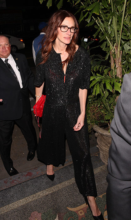 <p>Julia Roberts was also there with her husband Daniel Moder clad in a black sequinned jumpsuit.</p>