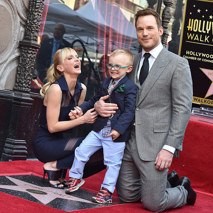 <p>Chris Pratt and now ex-wife Anna Faris were joined by their adorable son Jack as Chris took his place on the Walk of Fame in April 2017.</p>