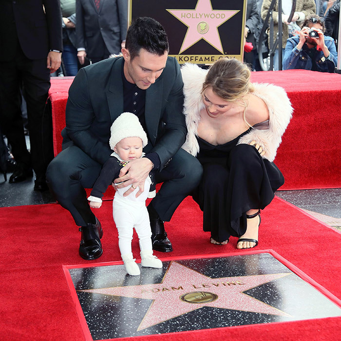 <p>Adam Levine's big day was shared with supermodel wife Behati Prinsloo and their daughter in February 2017. Little Dusty Rose was only five months old for her big Walk of Fame debut.</p>