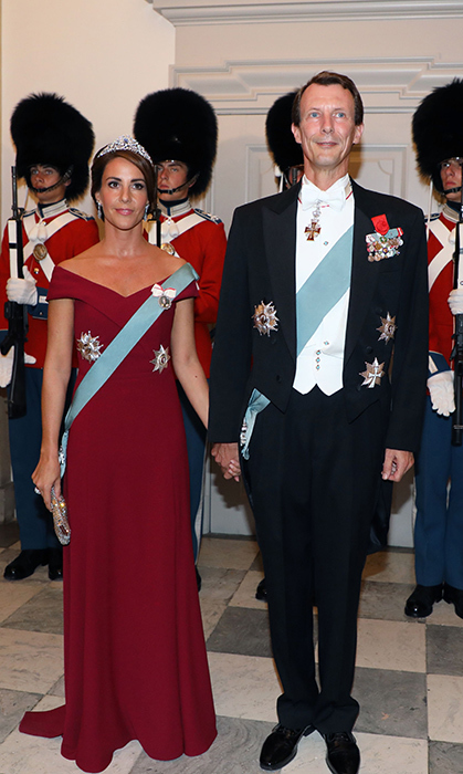 Princess Marie and Prince Joachim of Denmark showed off their summer glow's for the French state dinner – and some royal watchers noticed she was wearing a brand new tiara! 