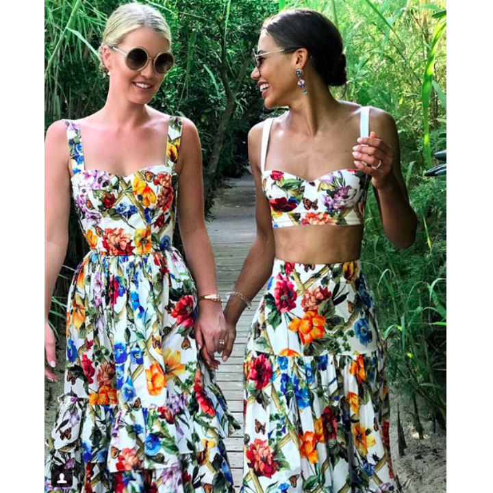 Princess Diana's niece Lady Kitty Spencer has a floral Dolce & Gabbana twinning moment with her close friend Emma Thynn, Viscountess Weymouth. While Kitty focuses much of her time on modelling, Emma is an established chef in England.  