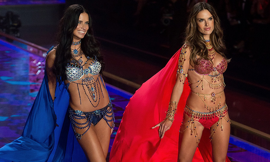 <h2>Adriana Lima and Alessandra Ambrosio, 2014</h2>