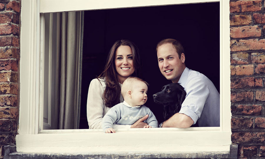 "Lupo: Awww, look at how they gaze into each other's eyes! George loves his dog, Lupo. ""As a lot of people know who have dogs and bring newborns back, they take a little bit of time to adapt but, no, he's been all right so far,"" said Prince William. ""He's been slobbering sort of around the house a bit, so he's perfectly happy!"""