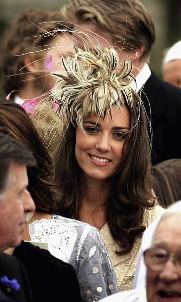 In May 2006, Kate attended the nuptials of the Duchess of Cornwall's daughter, Laura Parker Bowles, and her husband — Calvin Klein underwear model turned accountant Harry Lopes. 