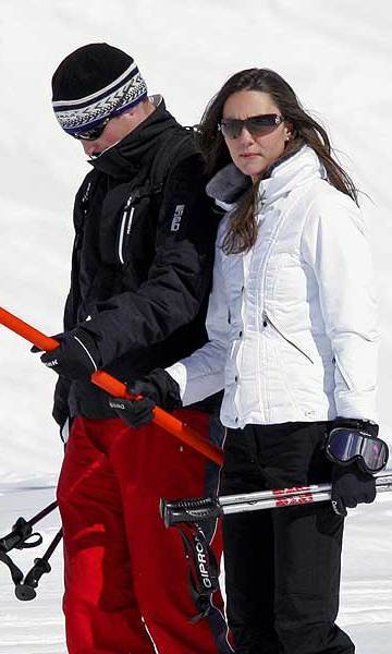 An Easter break in their beloved Klosters proved the perfect getaway for the sporty pair, who had had little time for romance in the previous months as William took part in an intensive pilot training course at RAF Cranwell, Lincolnshire. 
