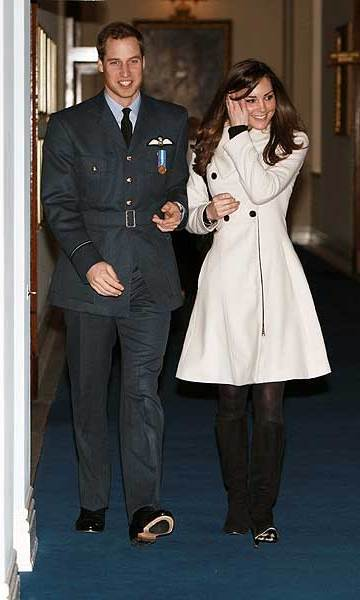 Just over a year after their reported separation, Kate was back by William's side in April 2008, when he received his wings upon completing his RAF training. 