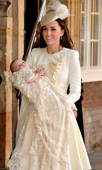 Three months later royal watchers were amazed to see how much Prince George had grown when he made his appearance at his christening. 