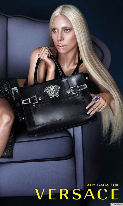Lady Gaga for Versace in 2014.