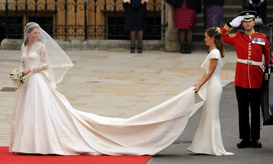English designer Sarah Burton, creative director of Alexander McQueen, designed the show-stopping bridal gown that Kate chose for her royal nuptials.