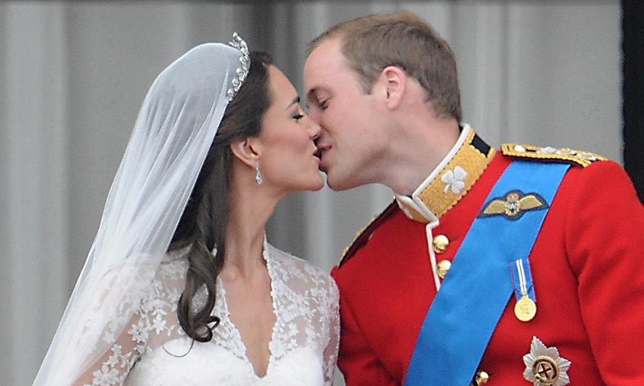 Putting their own spin on the tradition, the pair kissed again to cheers from the crowd.