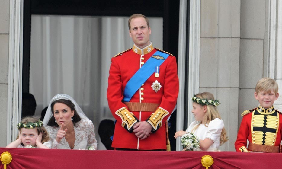 Kate tried to cheer up an unimpressed flowergirl, five-year-old Grace Van Cutsem, who wasn't used to so much noise. The little girl became one of the most famous figures from the wedding, earning her own meme.