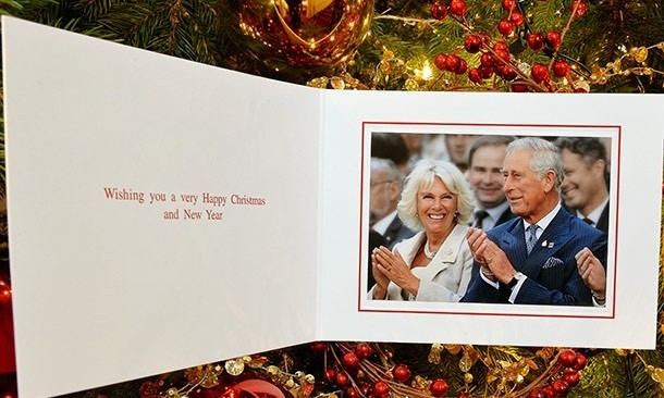 holiday card this year the royal couple picked a shot of themselves attending the opening ceremony of harrys groundbreaking invictus games the