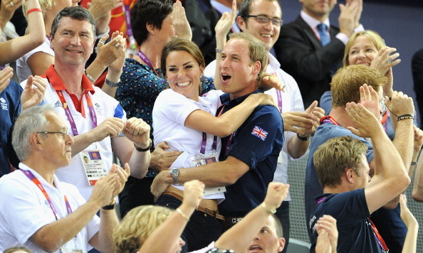 In one of cutest images ever snapped, Kate clung to William when Great Britain took home the gold medal in the team sprint contest during the 2012 London Olympics.