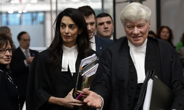 Amal Clooney is back in black (legal robe, that is) to defend Armenia