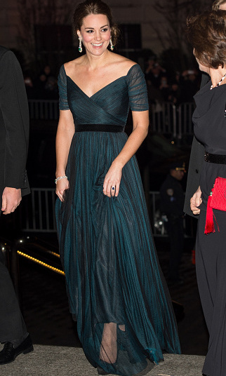 The mother of Prince George recycled a Jenny Packham gown to wear to the St. Andrews 600th Anniversary Dinner in New York City on December 9. 