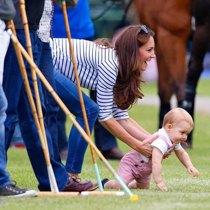 """He's a bonny lad and you'll be pleased to know that he's currently preparing for life as a prop forward!"" joked the Duke of Cambridge while on tour in New Zealand, jesting that George may be a rugby player one day. 