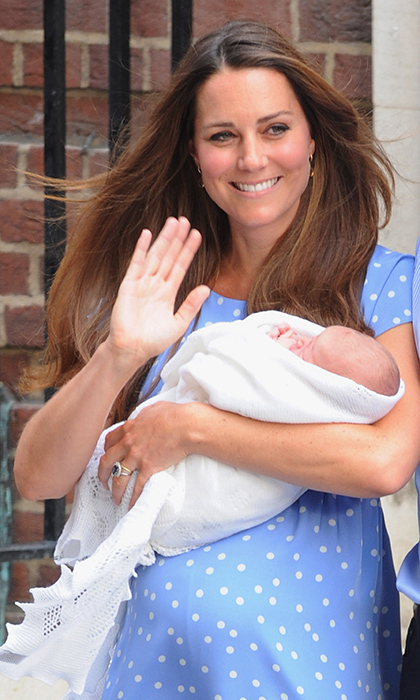 """It's very emotional,"" Kate told reporters outside St Mary's Hospital when she emerged with George on July 22, 2013. ""It's such a special time. I think any parent will know what this feeling feels like."" 