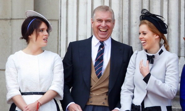 June 2013: Prince Andrew and his daughters were certainly enjoying their time together during the Trooping of the Colour.