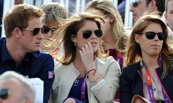 June 2012: Princess Eugenie joined her sister and Prince Harry during the London Olympics.