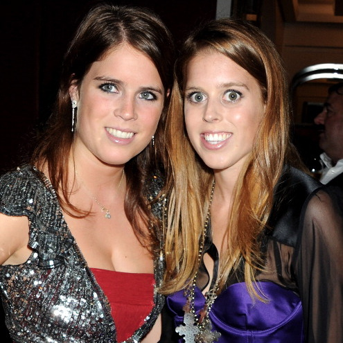 September 2011: Glittering sisters Eugenie and Beatrice attended an event celebrating Freddie Mercury's 65th birthday.