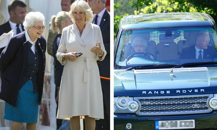 Queen Elizabeth Dresses Down Drives Herself To Annual Windsor Horse Show