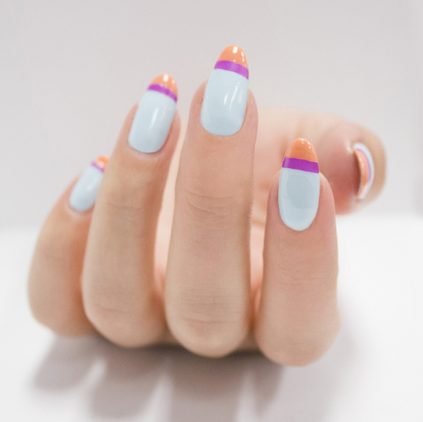 Single Line Nail Art : Chic summer nail art diy manis for days of the week