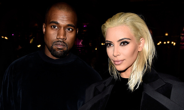 Front row and the center of attention with Kim's freshly bleached bob and matching black outfits, the duo attended the Balmain show as part of the Paris Fashion Week Womenswear Fall/Winter 2015.