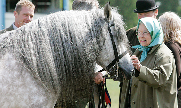 With her pony 'Balmoral Melody' in May 2007.