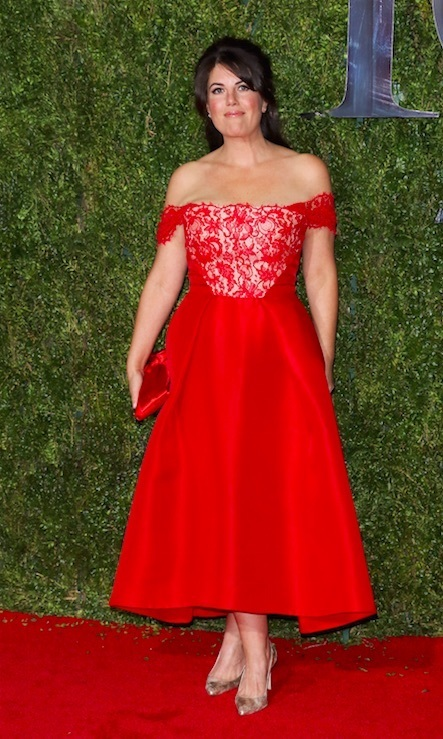 Monica Lewinsky Stuns In A Red Lace Gown At The 2015 Tony