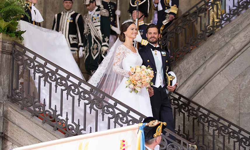 Princess Sofia of Sweden\'s stunning wedding gown: all the details