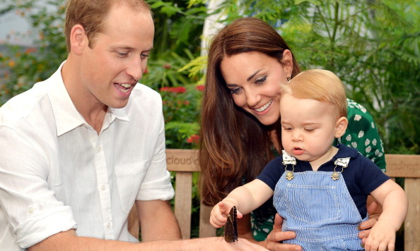 Kate and William enjoyed a family moment in Australia showing son George a butterfly.
