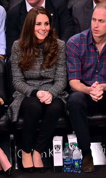 The Duchess took in a basketball game while in New York City.