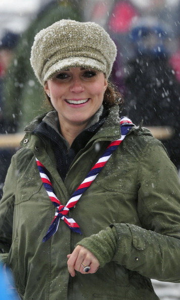 The snow didn't stop Kate from hanging out with some scouts.