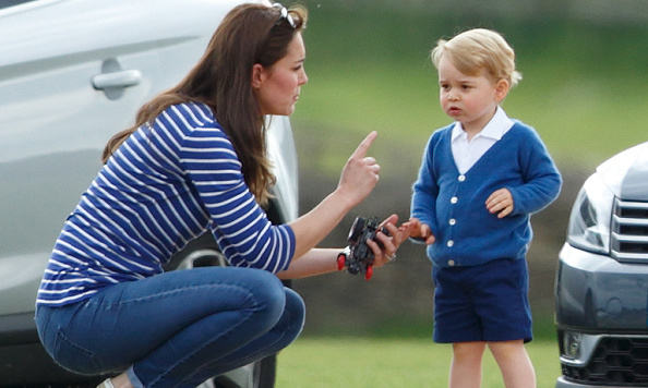 Kate reprimanded her son who was misbehaving.
