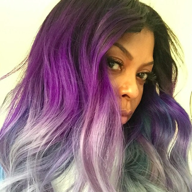 "<a href=""https://us.hellomagazine.com/tags/1/taraji-p-henson/""><strong>Taraji P Henson</strong></a> went every shade of purple with this ombré look.