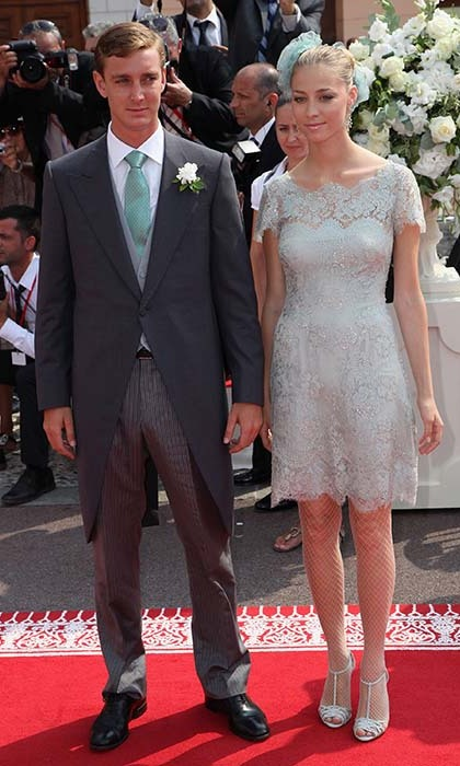 In a pastel lace dress, Beatrice accompanied Pierre to the Royal Wedding of Prince Albert II of Monaco to Princess Charlene of Monaco in 2011. 