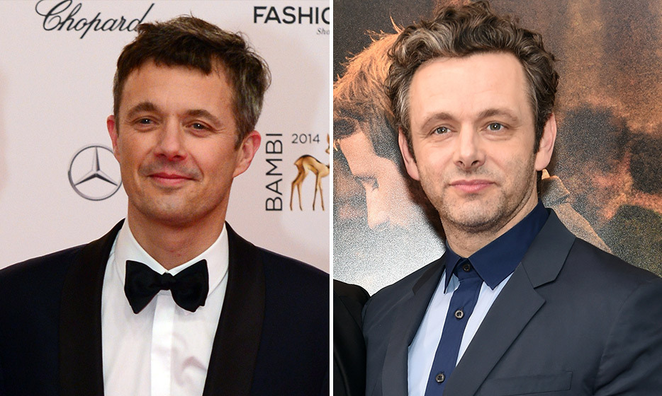 Crown Prince Frederik of Norway and 'Masters of Sex' actor Michael Sheen 