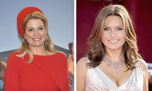 Queen Maxima of the Netherlands and Mariska Hargitay of 'Law & Order: Special Victims Unit'