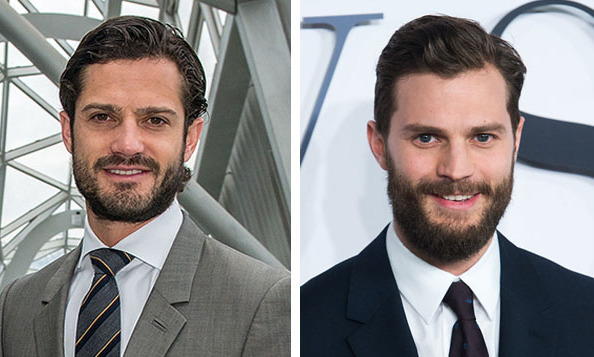 Prince Carl Philip of Sweden and 'Fifty Shades of Grey' star Jamie Dornan 