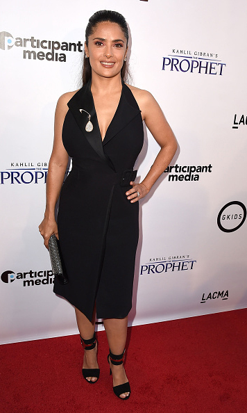 "July 29: Salma Hayek was a beauty at the screening of 'Prophet"" in Los Angeles. 