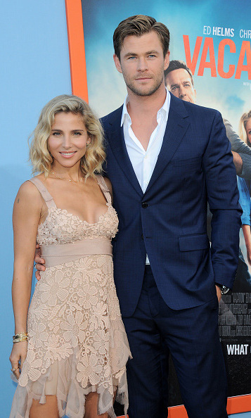 July 27: Chris Hemsworth and Elsa Pataky heated up the 'Vacation' red carpet.  