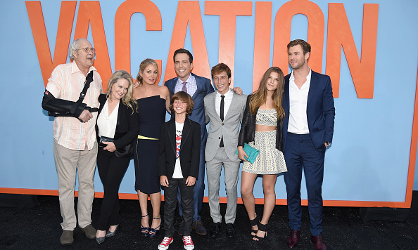 July 27: The cast of 'Vacation' celebrated the film's release in West Hollywood, California. 