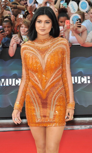 Kylie shows she's just as glam as older sister Kim last year at the MuchMusic Video Awards. 