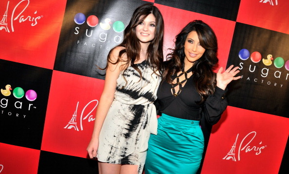With big sis Kim Kardashian in 2011.